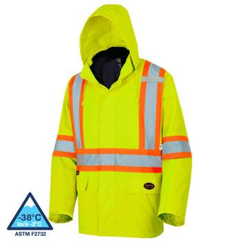 "Pioneer 5632 ""The Rock"" Safety Rainwear / Parkas (300D) - Hi-Viz Yellow/Green | Safetywear.ca"