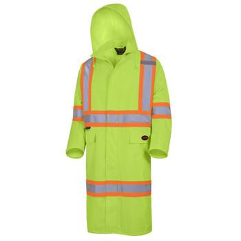 "Pioneer 5630 ""The Rock"" 300D Oxford Waterproof Poly Long Coat - Yellow/Green | Safetywear.ca"