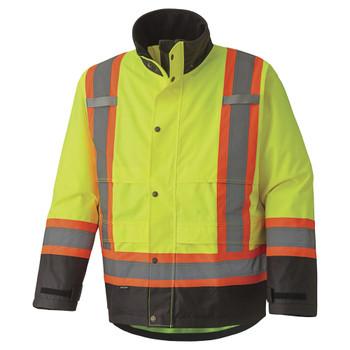 Pioneer 5401 Waterproof Safety Jacket - Hi-Viz Yellow/Green | Safetywear.ca
