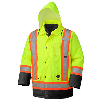 Pioneer 5021BB Waterproof 7-IN-1 Safety Parkas - Hi-Viz Yellow/Green | Safetywear.ca
