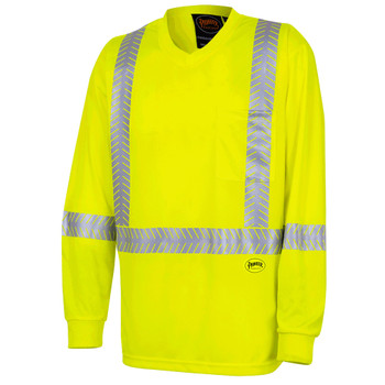 Pioneer 6905A UV Protection Coolpass® Breathable Long Sleeve Safety Shirt - Hi-Viz Yellow/Green | Safetywear.ca