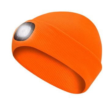Pioneer 5677 Knit Toque with LED Headlight - Hi-Viz Orange | Safetywear.ca