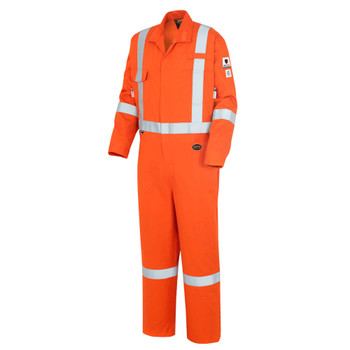 Pioneer 7708A Flame Resistant/ARC Rated Industrial Wash Suitable Coveralls - Hi-Viz Orange | Safetywear.ca