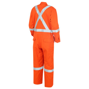 Pioneer 7708A Flame Resistant/ARC Rated Industrial Wash Suitable Coveralls - Hi-Viz Orange (Tall)  | Safetywear.ca