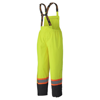 Pioneer 5404 Waterproof Safety Bib Pants - Hi-Viz Yellow/Green | Safetywear.ca