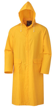 """Yellow 581 48"""" Long PVC Rain Coat"""