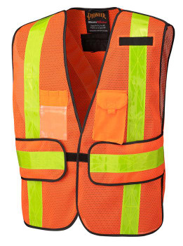 Pioneer 145 All-Purpose Safety Tear-Away Vest - Hi-Viz Orange | Safetywear.ca