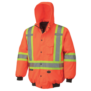 Outer Jacket - 5022 Hi-Viz 100% Waterproof 6-In-1 Bomber