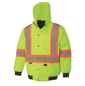 Pioneer 5023 Waterproof 7-IN-1 Safety Bombers Jacket - HI-Viz Yellow/Green | Safetywear.ca