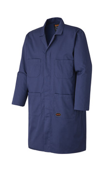 Navy 512 Poly/Cotton Shop Coat