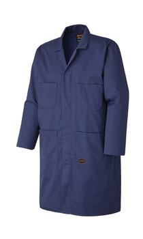 Pioneer 512 Poly/Cotton Shop Coat - Navy | Safetywear.ca
