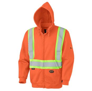 Pioneer 338SF Flame Resistant/ARC Rated Zip Heavyweight Safety Hoodie - Orange | Safetywear.ca