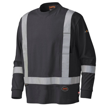 Pioneer 340SFA Flame Resistant/ARC Rated Long Sleeve Safety Shirt - Black | Safetywear.ca