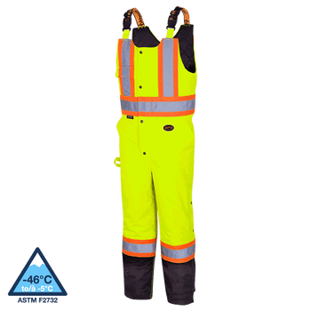 5041BB Quilted Hi-Viz 100% Waterproof Overall | Safetywear.ca
