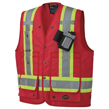 Pioneer 693 CSA Surveyor's / Supervisor's Vest - Red   Safetywear.ca