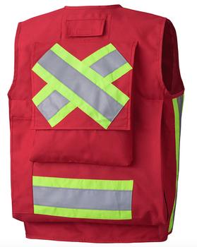 Pioneer 695 Surveyor's / Supervisor's Safety Vest - Red | Safetywear.ca
