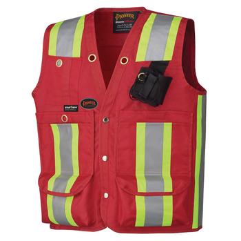 Red - 695 Surveyor's / Supervisor's Vest | Safetywear.ca
