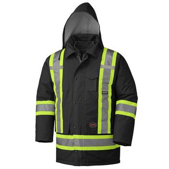 Pioneer 5025 Waterproof 7-IN-1 Safety Parkas - Black | Safetywear.ca
