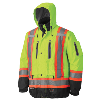 Yellow-Green - 5201 Waterproof/Breathable Hi-Viz Parka | Safetywear.ca