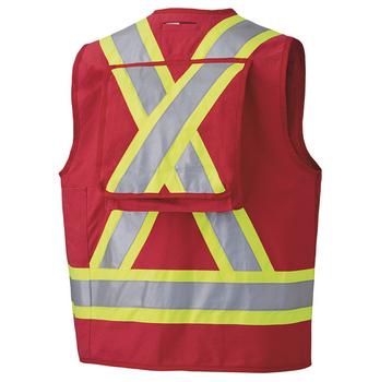 Pioneer 694 CSA Surveyor's / Supervisor's Safety Vest - Red | Safetywear.ca