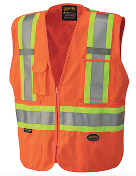 6935 Hi-Viz Safety Mesh Back Vest | Safetywear.ca