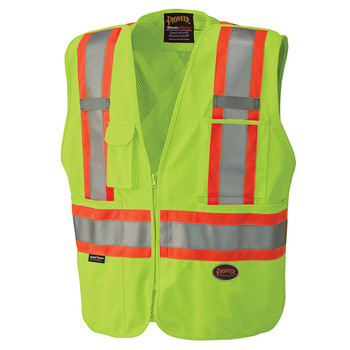 6f07d23f3cb Yellow-Green Hi-Viz Safety Mesh Back Vest ...