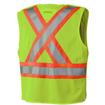 Yellow-Green Hi-Viz Safety Mesh Back Vest