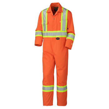 Orange - 5555T Tall Flame Resistant Cotton Safety Coverall | Safetywear.ca