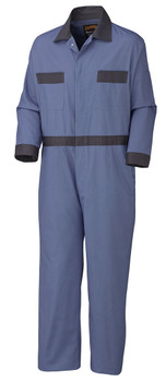 Pioneer 5133 Coverall with Concealed Brass Buttons - Navy | Safetywear.ca