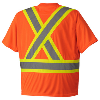 Orange, Back - 6990 Birdseye Safety T-Shirt | Safetywear.ca