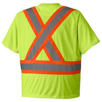 Pioneer 6991 Birdseye Poly Safety T-shirt - Hi-Viz Yellow/Green | Safetywear.ca