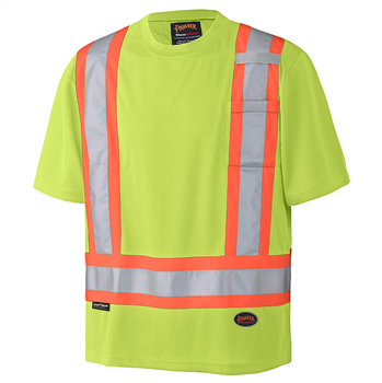 Yellow Green - 6991 Hi-Viz Birdseye Safety T-Shirt