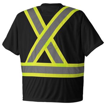 Pioneer 6992 Birdseye Safety T-Shirt - Black | Safetywear.ca