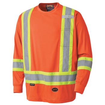 Pioneer 6995 Safety Long-Sleeve Shirt - Hi-Viz Orange | Safetywear.ca