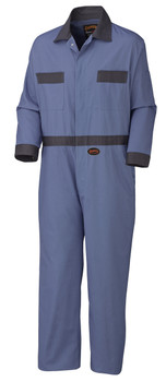 Pioneer 5133T Coverall with Concealed Brass Buttons - Navy (Tall) | Safetywear.ca