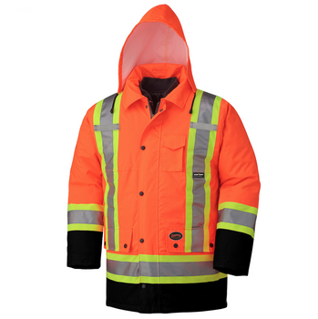 Orange, 2 - 5020BB Hi-Viz 100% Waterproof 6-In-1 Parka | Safetywear.ca