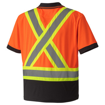 Orange - 6986 Birdseye Safety Polo Shirt