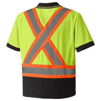 Safety Yellow - 6987 Birdseye Safety Polo Shirt