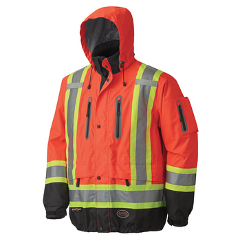 Safety Orange - 5200 Waterproof/Breathable Premium Hi-Viz Jacket | Safetywear.ca