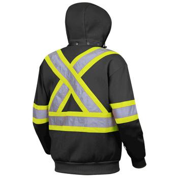 Pioneer 6925BK Hi-Viz Polyester Fleece Hoodie - Black | Safetywear.ca