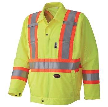 Safety Yellow - 5999J Hi-Viz Traffic Safety Jacket