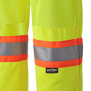 Pioneer 5999P Mesh Leg Panels Traffic Safety Pants - Hi-Viz Yellow/Green | Safetywear.ca