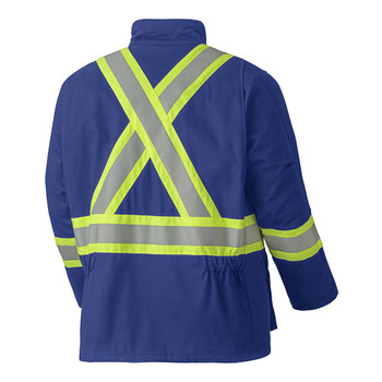 Pioneer 5523 Frame Resistant Tech Quilted Safety Parkas - Royal | Safetywear.ca