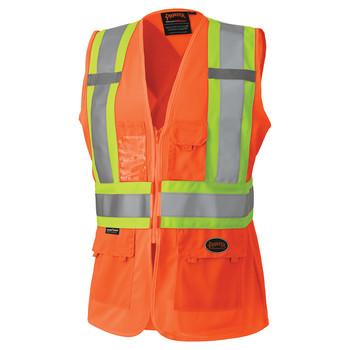 Pioneer 136 Women's Safety Vest - Hi-Viz Orange   Safetywear.ca