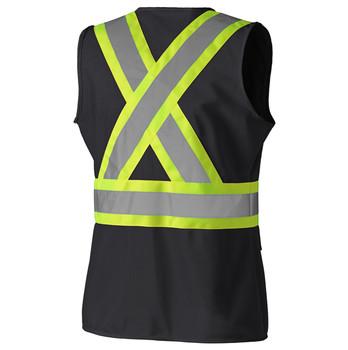 Pioneer 139BK Hi-Viz Women's Safety Vest - Black   Safetywear.ca