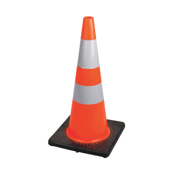 "183 28"" (71 cm) Premium PVC Flexible Safety Cone"