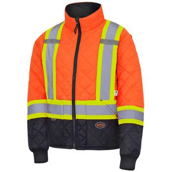 Pioneer 5015 Quilted Freezer/ Work Safety Jacket - Hi-Viz Orange | Safetywear.ca