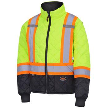 Pioneer 5016 Quilted Freezer/ Work Safety Jacket - Hi-Viz Yellow/Green | Safetywear.ca
