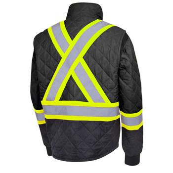 Pioneer 5017 Hi-Viz Quilted Freezer/ Work Safety Jacket - Black | Safetywear.ca