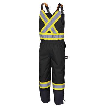 Pioneer 5042 Hi-Viz 100% Waterproof Quilted 7-IN-1 Bib Pants - Black | Safetywear.ca